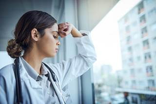 "Overall, 42% of physicians experienced burnout, and 15% ""admitted to experiencing either clinical or colloquial forms of depression."""